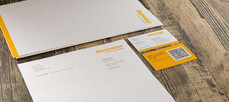 Corporate Design Visitenkarte Briefpapier Hemmler Referenzprojekt Vorschau