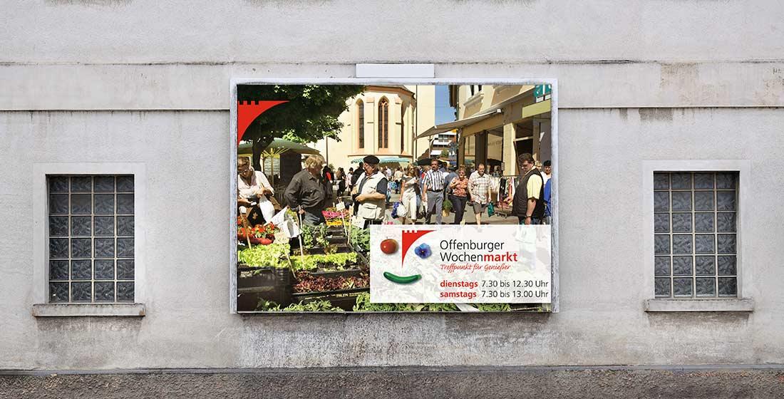 Plakat Offenburger Wochenmarkt Stadt Offenburg