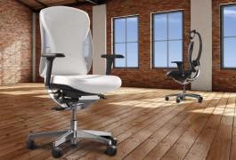 weiße Bürostühle