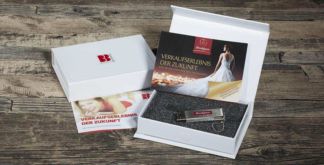 Brinkhaus und Badenia USB-Stick-Mailing