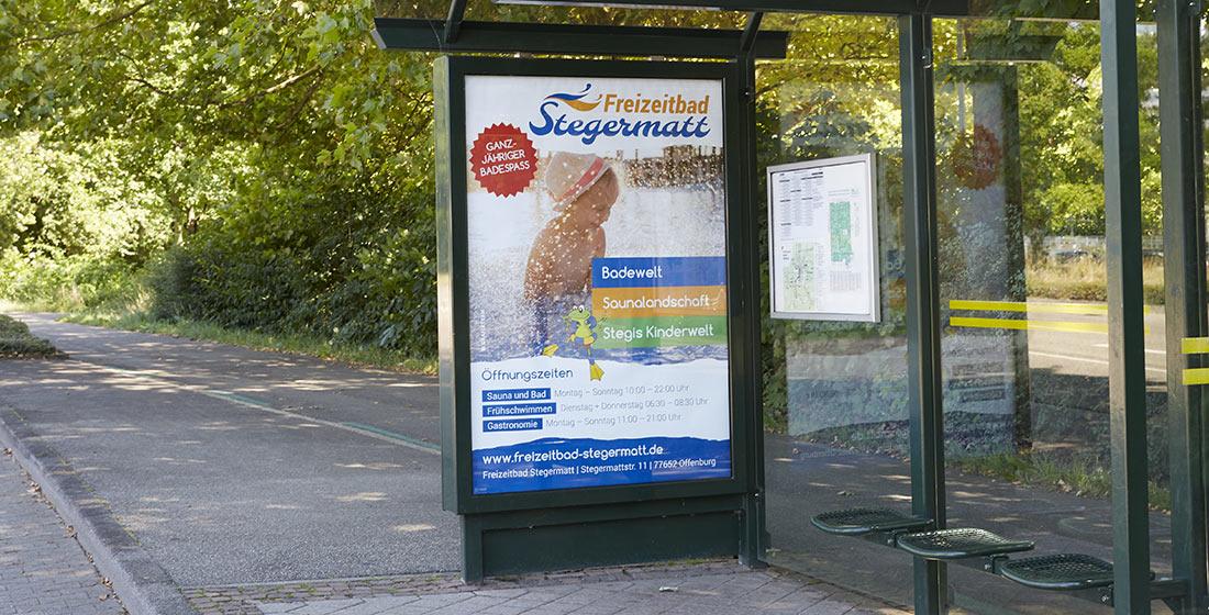 Freizeitbad Stegermatt Plakat Citylights
