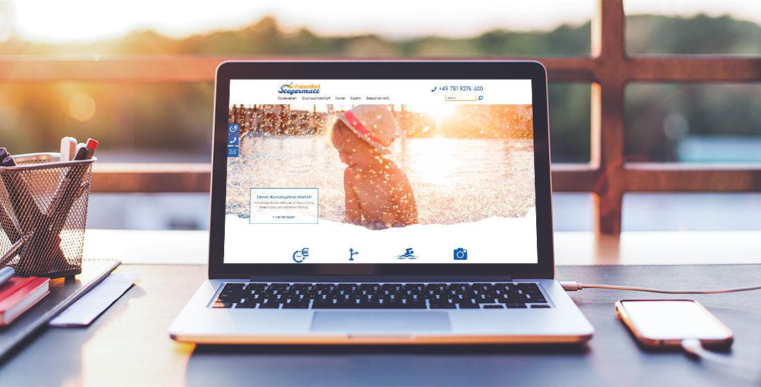 Freizeitbad Stegermatt Website