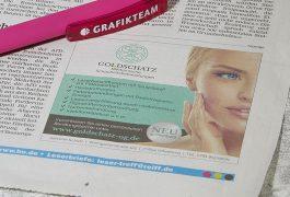 Goldschatz Print Anzeige